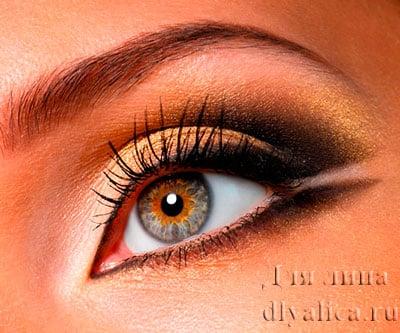 Черно-золотой макияж