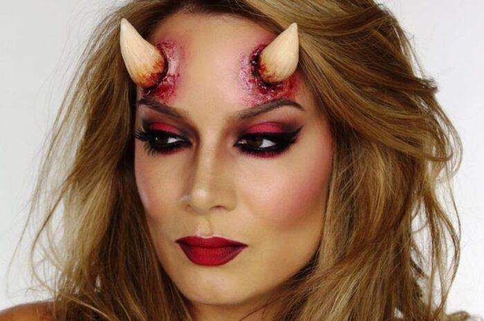 Как сделать рожки и образ дьяволицы на Хэллоуин