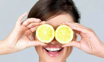 Маска для лица на основе лимона
