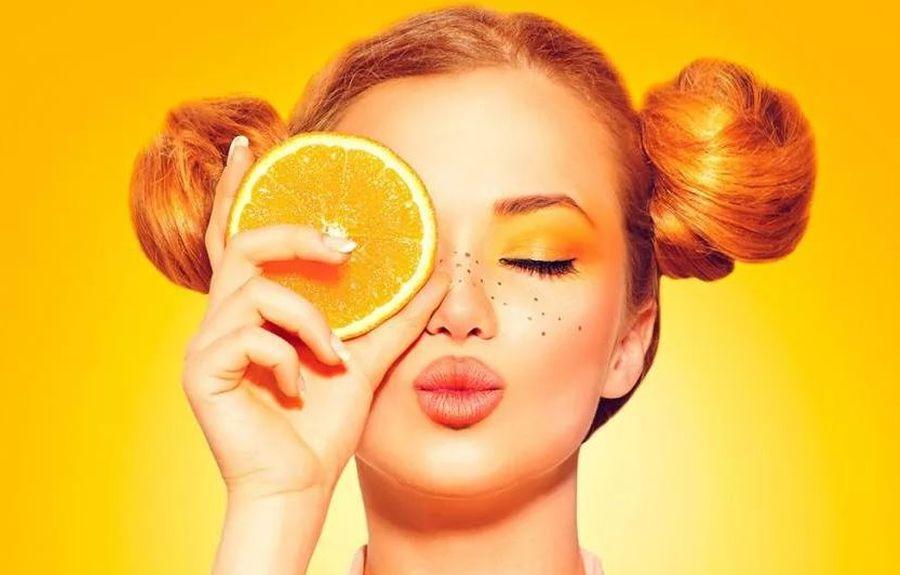 Маска из апельсинов для лица