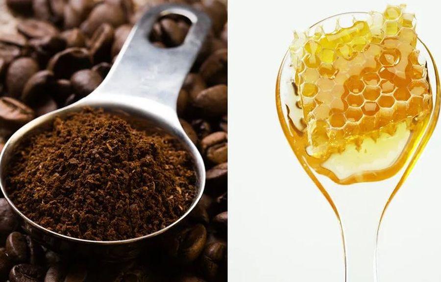 Маска на основе меда и кофе