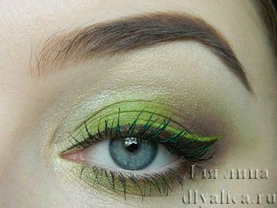 Макияж в зеленых тонах
