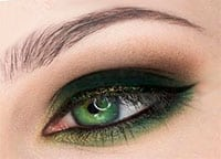 Зеленый макияж для зеленых глаз