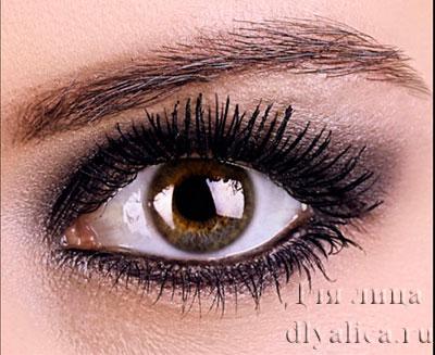 Серебристо-черный макияж 1