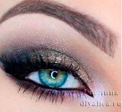 Серебристо-черный макияж 2