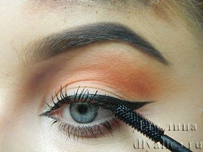 Завершение макияжа глаз