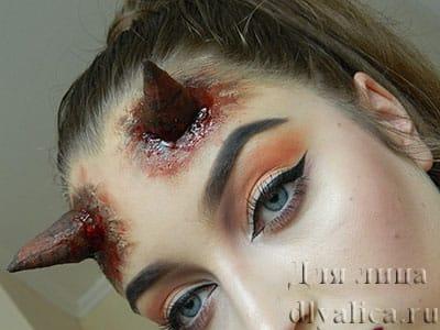 Макияж дьяволицы на хэллоуин