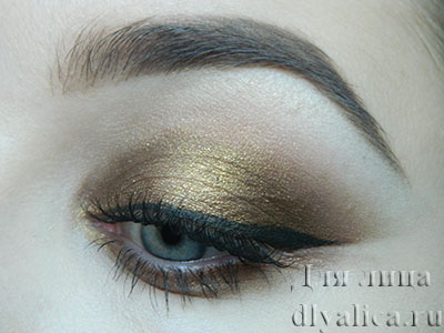 Золотисто-бронзовый макияж